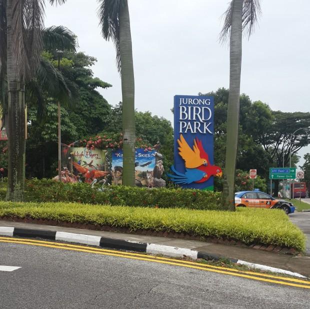 Gerbang utama Jurong Bird Park, setelah turun dari city bus