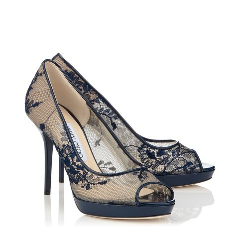 Jimmy Choo Luna Navy Lace. (Cr: jimmychoo.com)